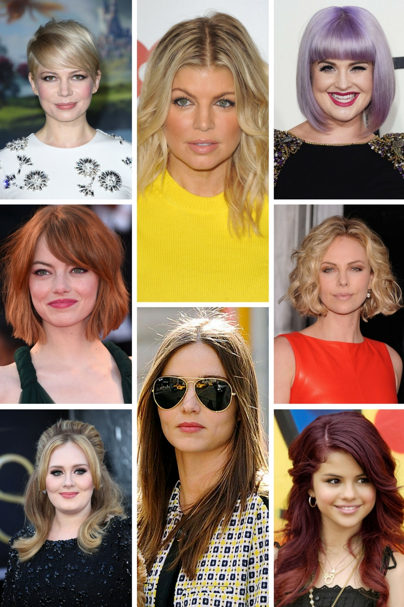 celebrity haircuts round face