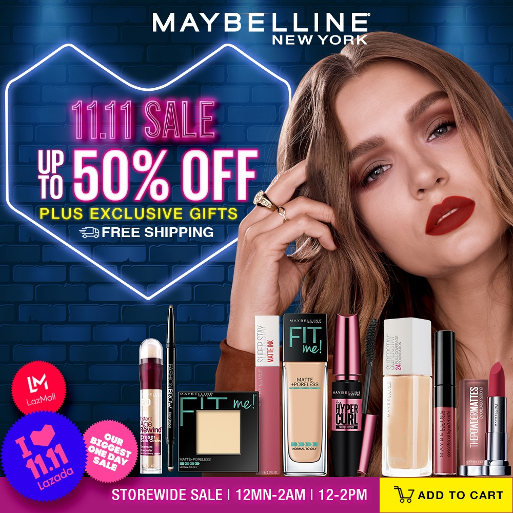 Maybelline Lazada 11.11 Makeup Beauty Sale