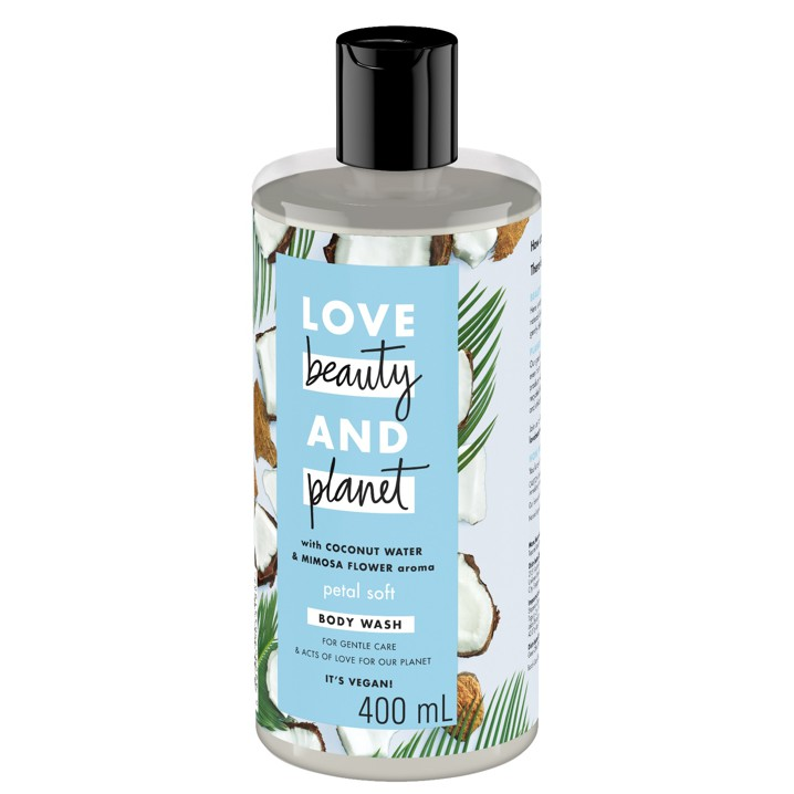 Love, Beauty and Planet Body Wash Petal Soft With Coconut Oil and Mimosa Aroma